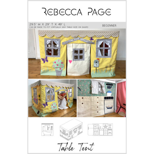 Create a whimsical and interactive heirloom play area with this delightful table tent sewing pattern. Keep it simple or beautifully detailed!