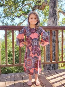 Delight in comfort and style with the children's butterfly-sleeve dress sewing pattern! The Ruffle Sleeve Tunic Dress comes in sizes 12 months to 12 years.