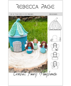 Create the perfect playtime pal with this whimsical and delightful crochet fairy playhouse pattern. A lovely set for anyone who believes in magic and a little bit of fairy dust.