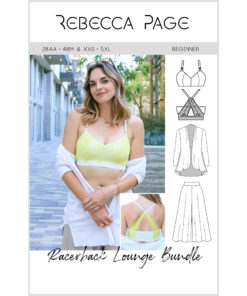 Get ready for the ultimate in relaxation with the most comfortable loungewear set ever! Sew up your bralette, culottes, and cardie for stylish lounging!